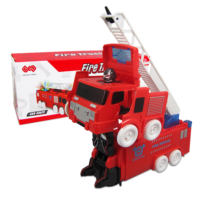 Children Electric Universal Fire Truck Educational Light And Sound Firefighting Transformer Toy Stall Toy