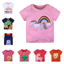 0-6y Girls T Shirt Summer Baby Boys Cotton Tops Toddler Tees Clothes Children Clothing Unicorn T-shirts Short Sleeve Casual Wear стоимость