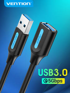 Cable Data-Cord Extender Usb-Extension-Cable SSD Smart-Tv Usb-3.0 Vention Male-To-Female