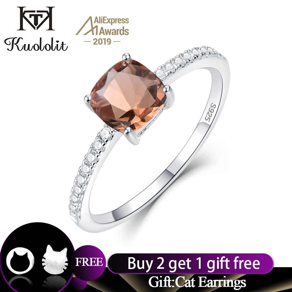 Kuololit Diaspore Zultanite Gemstone Rings for Women Girls Solid 925 Sterling Silver Wedding Band Engagement Gift Fine Jewelry
