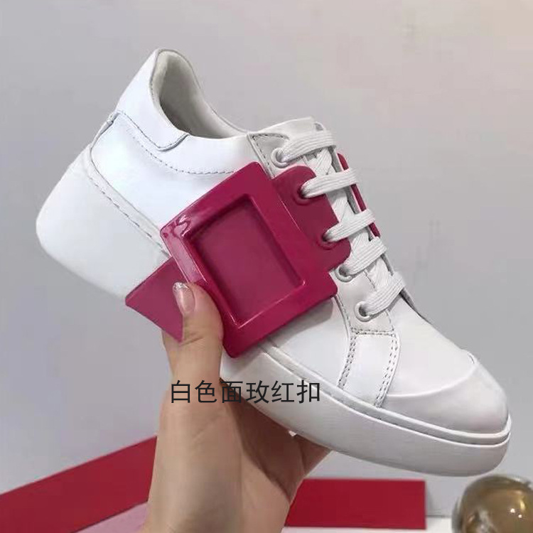 Women Brand Genuine Leather platform wedges Sneakers Casual Leisure Running Sports Shoes Lace-up Walking Tennis Shoes