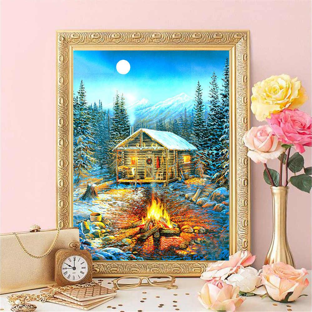 HUACAN Fai Da Te Diamante Ricamo 5D Paesaggio Invernale Nuovi Arrivi Diamante Pittura Casa Mosaico Della Decorazione Della Casa
