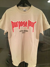 Justin Bieber Purpose Tour Merch Shirt Tan VFiles FOG T Unisex Size S-2XL# Men Loose shirt