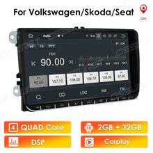 Android 10 2 + 32 HD 9 ''araba GPS navigasyon NODVD oynatıcı fit VW Volkswagen SKODA için GOLF 5 golf 6 POLO PASSAT B5 B6 JETTA TIGUAN