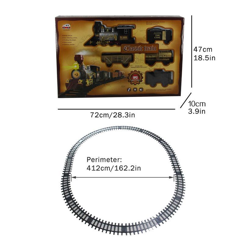 Conjunto de juguete tren simulación Retro vapor fumar música eléctrica luces vía de tren de juguete niños y niñas regalos de Año Nuevo - 2