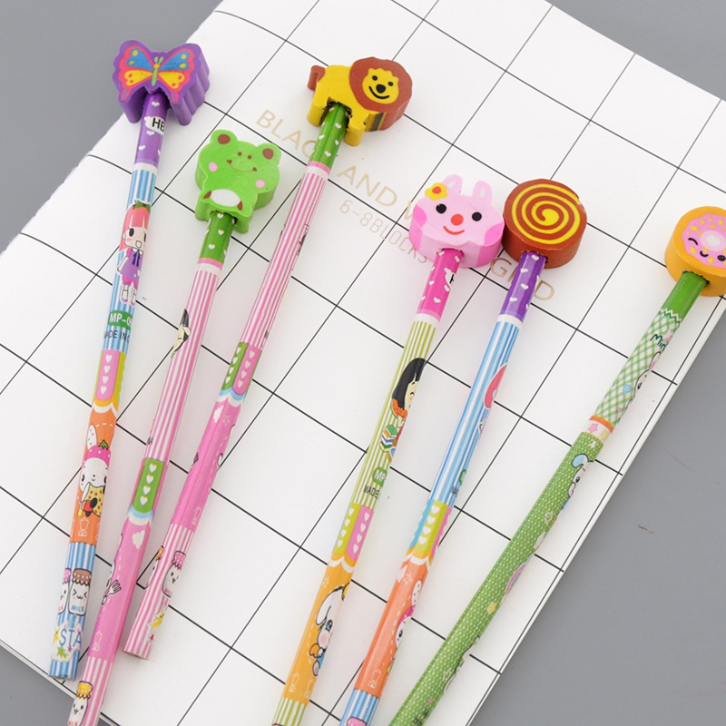 Новые Студенческие карандаши с животными, Обучающие игрушки, Мультяшные Детские карандашный ластик для девочек и мальчиков, карандаши, под...