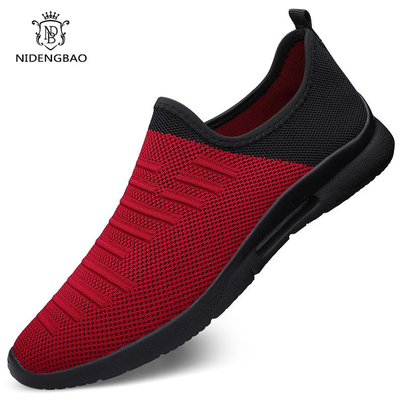 Comfortable Men Casual Shoes Breathable Mesh Sock Sneakers  Men 2020 New Non-slip Lightweight Sneakers For Men Big Size 46