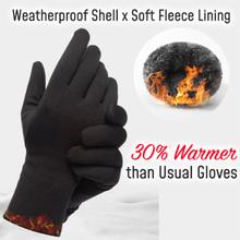 Na każdą pogodę zewnętrzne rękawiczki do obsługiwania ekranów dotykowych podszyty polarem wiatroszczelne antypoślizgowe ciepłe zimowe rękawice sportowe AIC88 tanie tanio Swokii Poliester Nylon Dla dorosłych Stałe Nadgarstek Nowość Outdoor