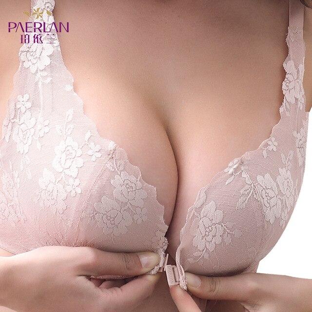 נקבה חזיית חוט משלוח נשים תחתונים מול אבזם קטן התכנס ללא שפה חזיית יופי חזרה סקסי תחרת חזייה סיטונאי