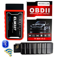 for launch Bluetooth ELM327 Scanner WIFI V1.5 ELM 327 PIC18F25K80 Versie 1.5 OBD2/OBDII voor Android Torque Auto Code Scanner