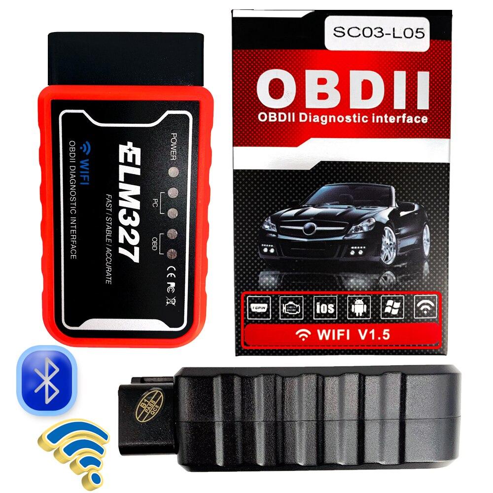 kfz werkzeug OBD2 II Bluetooth ELM327 Scanner WIFI V 1,5 ULME 327 PIC18F25K80 Version 1,5 für Android Torque Auto Code Scanner Diagnose werkzeug