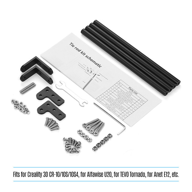 Aluminum Profile Supporting Pull Rod Kit 3D Printer Parts Accessories for Creality 3D CR 10/CR 10S/CR 10S4