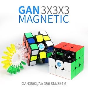 Image 2 - Gan 356X3x3x3 manyetik küp 3x3 sihirli mıknatıs küp hız Gan küp hava 356 SM 354M Gan 356x Neo Magico Cubo 3*3 GAN 356 X