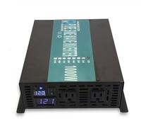 Pure Sine Wave Inverter Power 1000W 12V to 220V Solar Panel Inverter Battery 12/24V/48V DC to 120V/230V/240V AC For Home/Camping