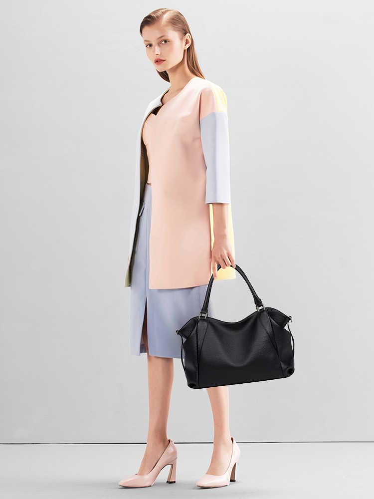 GIONAR hakiki deri çanta kadın ünlü marka lüks çanta tasarımcısı 2019 Crossbody omuz iş çantası omuz