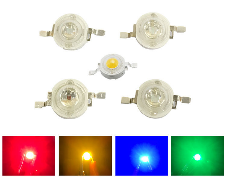 1000PCS/LOT LED 1W 120LM Hight Power Bulb SMD Lamp Light  1W White Warm Blue Red Agree Yellow Pink Led Chip 35mli Light Beads