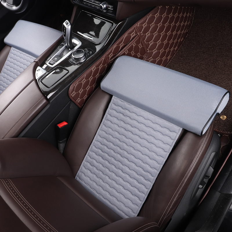 PU leather Car Seat Leg Support Extended flax cotton Seat Leg Support Foot Support care leg cushion knee pad thigh car accessory