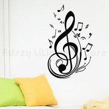 Muzyka uwaga nuta naklejki naklejki do domu dekoracje dekoracje ścienne salon naklejki ścienne dla H693