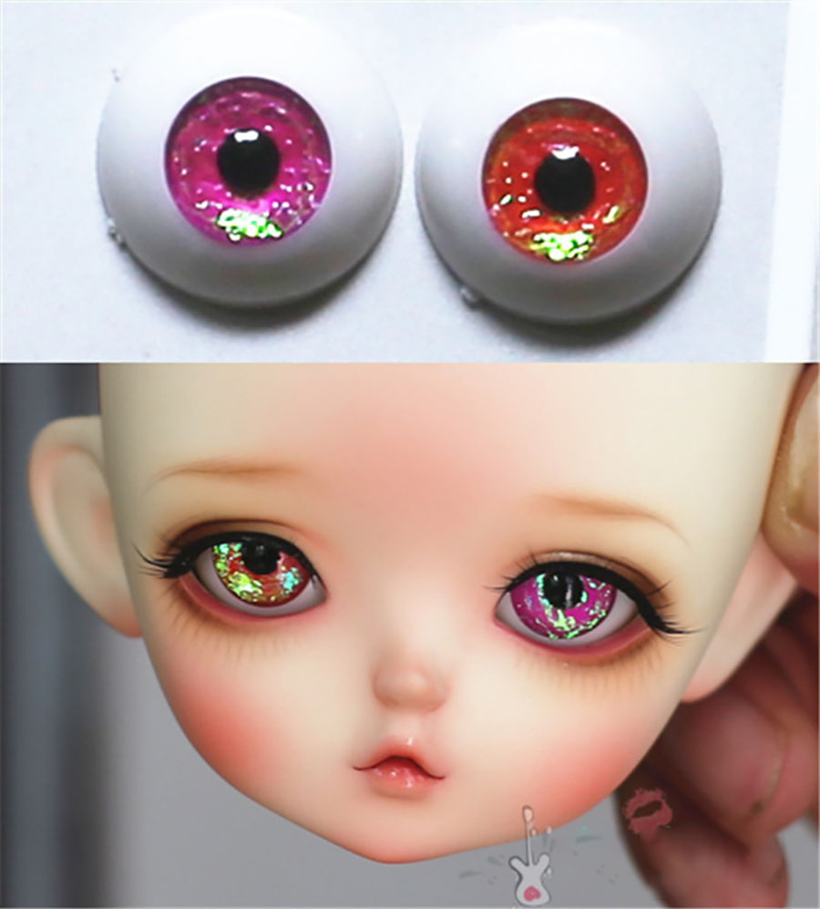 1//3 1//4 1//6 bjd 16mm acrylic doll eyes glitter sea blue full eyeball dollfie