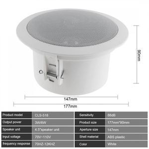 Image 2 - 6W Mode Wasserdicht Haushalt Eingebettet Soundbar Decke Lautsprecher Öffentlichen Broadcast Hintergrund Musik Lautsprecher für Home Restaurant