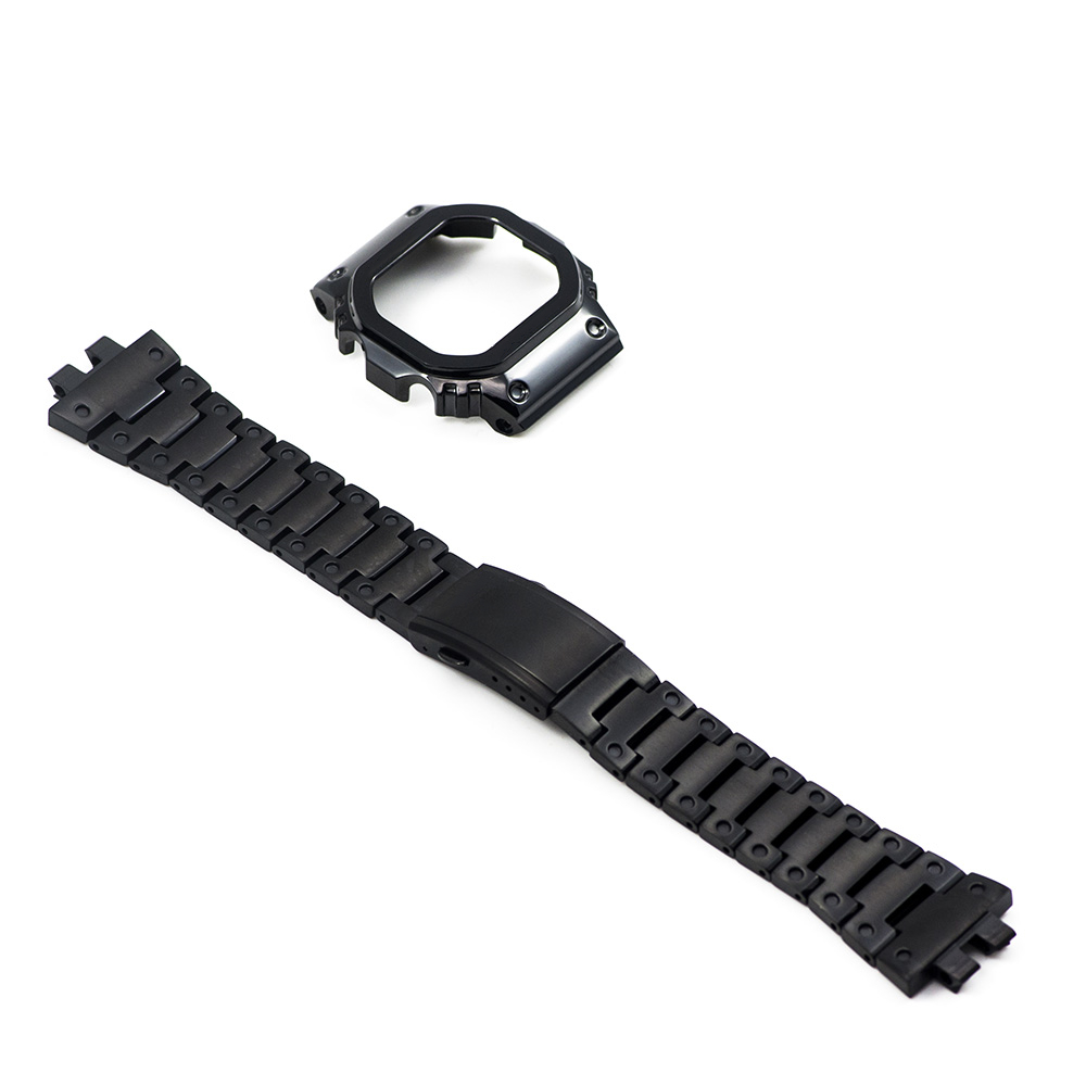 GMW-B5000 Upgrade Black Set Watch Modification Watchband Bezel/Case 100%Stainless Steel