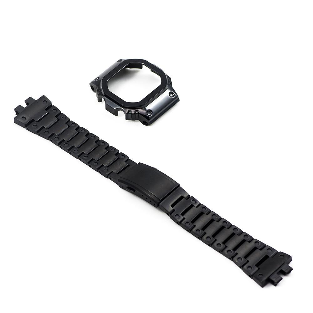 GMW-B5000 Upgrade Black Set Watch Modification Watchband Bezel/Case 100%Stainless Steel