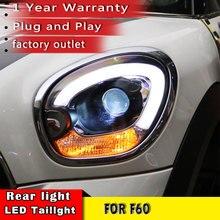 New Car Styling Head Lamp 2007 2016 For Mini R60 LED Headlight Xenon Beam for Mini Cooper Countryman Headlight