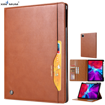 flip leather tablet case for apple ipad mini 1 2 3 fundas protective stand cover soft shell capa for mini1 mini2 mini3 7 9 inch For Apple iPad Pro 12.9 inch 2020 Pro 11'' 2020  Business Flip PU Leather Case Pen Holder Card Slot Stand Tablet Cover Shell