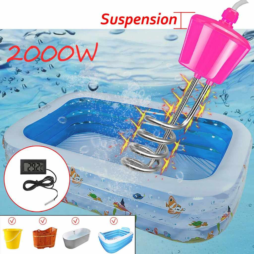 Immersion Electric Water Heater Boiler For In Flatable Tub Pool With Thermometer Water Heating Rods For Inflatable Swimming Pool Parts Accessories Aliexpress