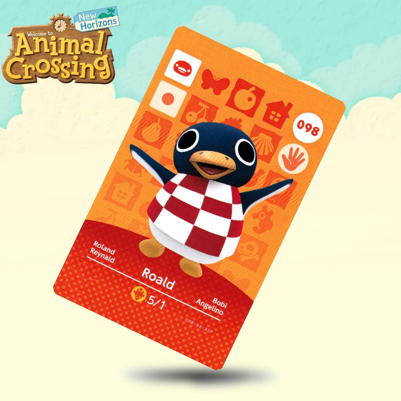 098 Roald  Animal Crossing Card Amiibo Cards Work For Switch NS 3DS Games