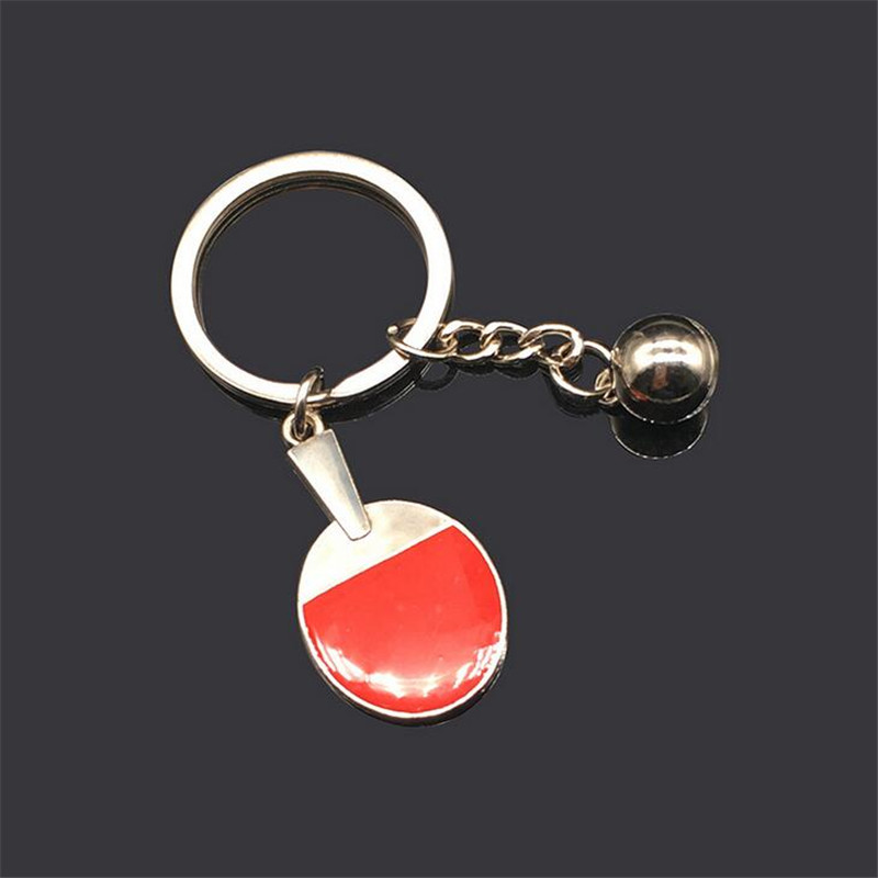Sport Ping Pong Table Tennis Ball Badminton Bowling Ball Keychain Key Chain Keyring Key Ring Souvenir Gift Bags Accessories