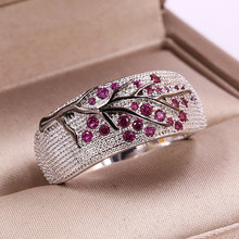 Fashion Shiny Tree Branch Ring of Colorful Crystal Zircon Branch Rings for Women Unique Punk Branch Wedding Party Jewelry Gift branch