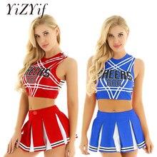 Женский сексуальный японский костюм школьницы, Униформа, Dirndl, сексуальное женское белье, Gleeing Cheerleader, костюм для Хэллоуина