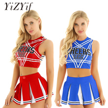 Donne Sexy Giapponese Studentessa Cosplay Uniforme Dirndl Sexy Girl Lingerie Gleeing Cheerleader Costume Set Costume di Halloween Femme