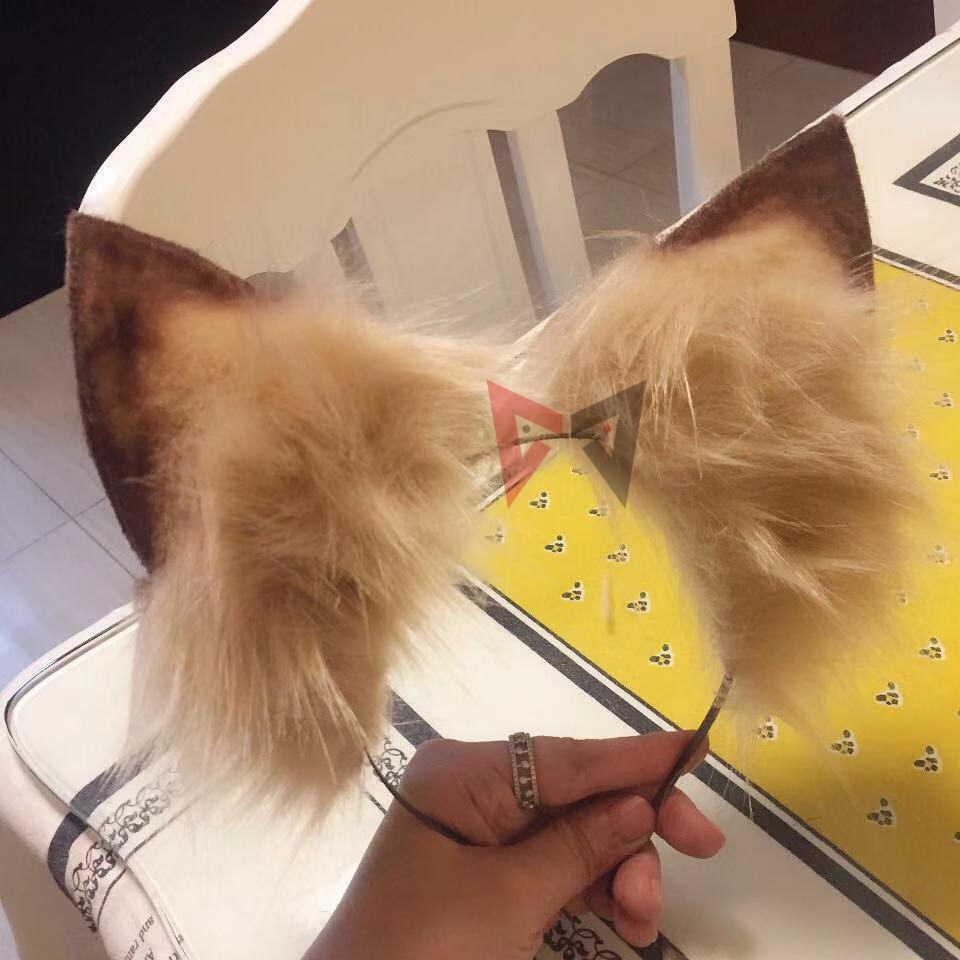 สัตว์ใหม่คอสเพลย์ Carnaval Gothic Lolita อุปกรณ์เสริม Cat ฟ็อกซ์หูผม Hoop Headwear สำหรับสาวผู้หญิงเด็กมือทำงาน