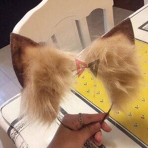 Image 3 - New animal Cosplay Carnaval Gothic Lolita Acessori gatto Volpe Orecchio Cerchio Dei Capelli Copricapi Per Le Donne Della Ragazza Bambini di Lavoro A Mano