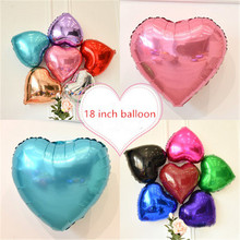 5PCS 18 inch love aluminum film balloon Valentine's Day wedding confession party birthday hotel decoration balloon цена