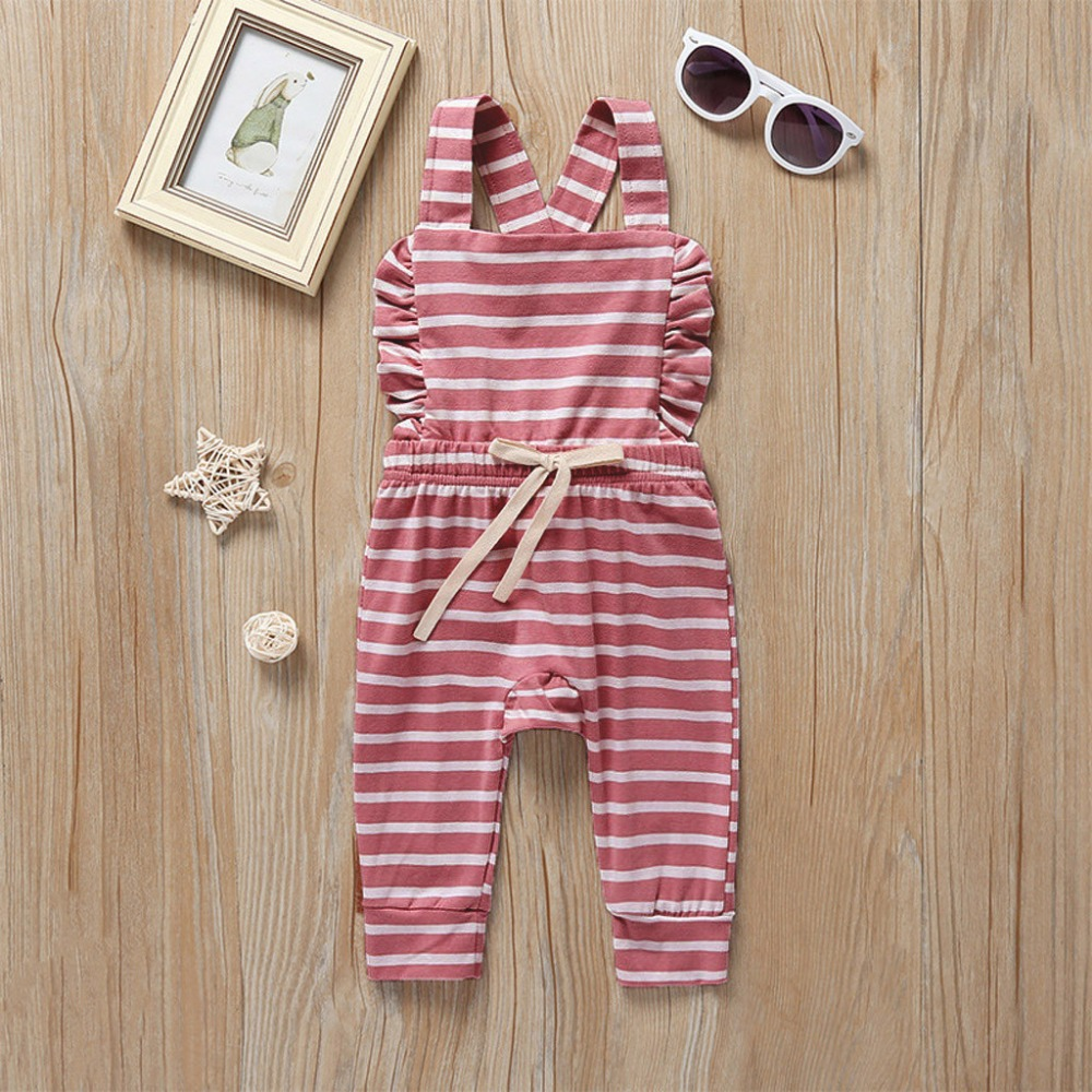 H86f3ef2553de47a6bae55205658aaa95b Newborn Baby Girl Boy Backless Striped Ruffle Romper Overalls Jumpsuit Clothes Onesies kid clothing toddler clothes baby costume