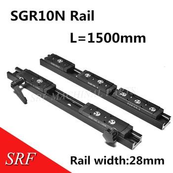 Rectangle wheel Linear Guide Rail 1pcs SGR10N L=1500mm with SGB10N roller rail slide block