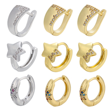 Ceative Earrings ZHUKOU Crystal Round Small Gold/silver-Color Fashion Women for CZ Model:Ve316
