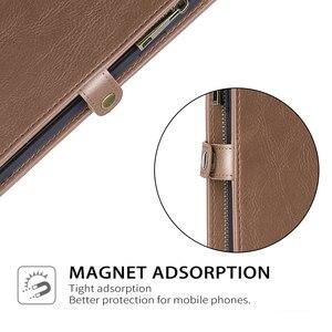 Image 5 - Para Samsung Galaxy S20 Plus A71 A51 PU Funda de cuero estilo Simple desmontable magnético Flip Case teléfono cubierta protectora