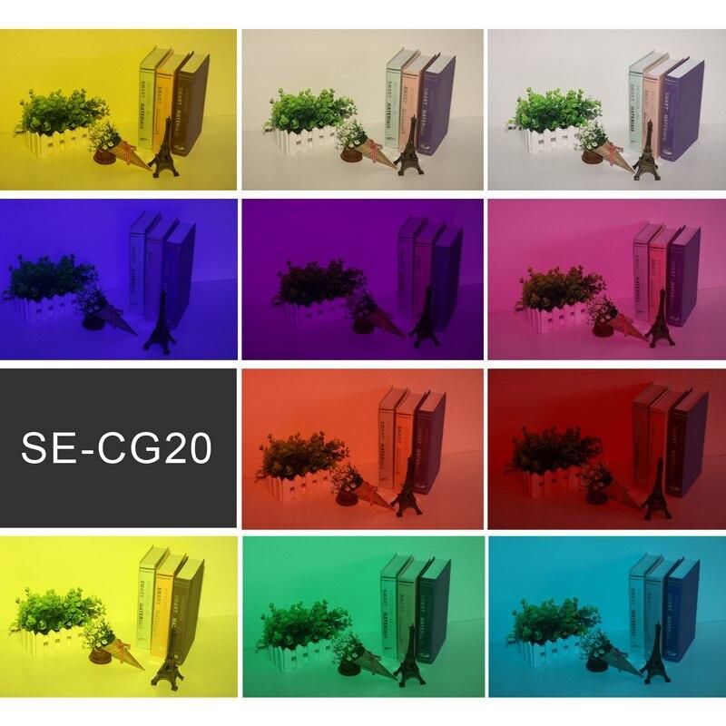 Selens 20pcs Photography Speedlite Flash Color Balance Gel Filter Universal Kit