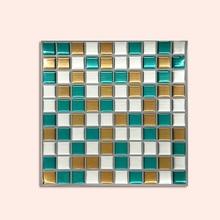 Wootile Backsplash Self-adhesive Waterproof Vinyl Wallpaper - Size 22x22cmDIY3D Mosaic Tile Kitchen, Bathroom (2pcs)