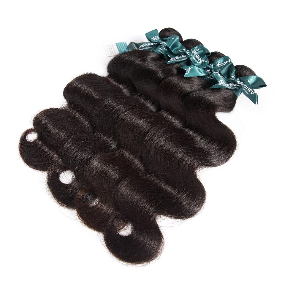 RosaBeauty 8A Human Hair Bundles Peruvian Body Wave Hair Weaves 3 Bundles/lots 100% Remy Hair Extensions Shipping Free 2