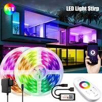 Tira de luces LED para decoración de dormitorio, diodo Flexible RGB 5050, con Wifi, Bluetooth, control por aplicación, tiras de luz LED
