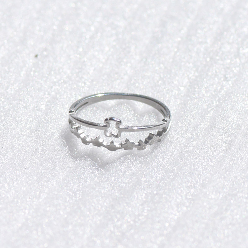 Hot Sell Finger Ring 1PCS Stainless Steel BEAR jewelry Fashion Jewelry Top-grade Plated Factory Price wholesale