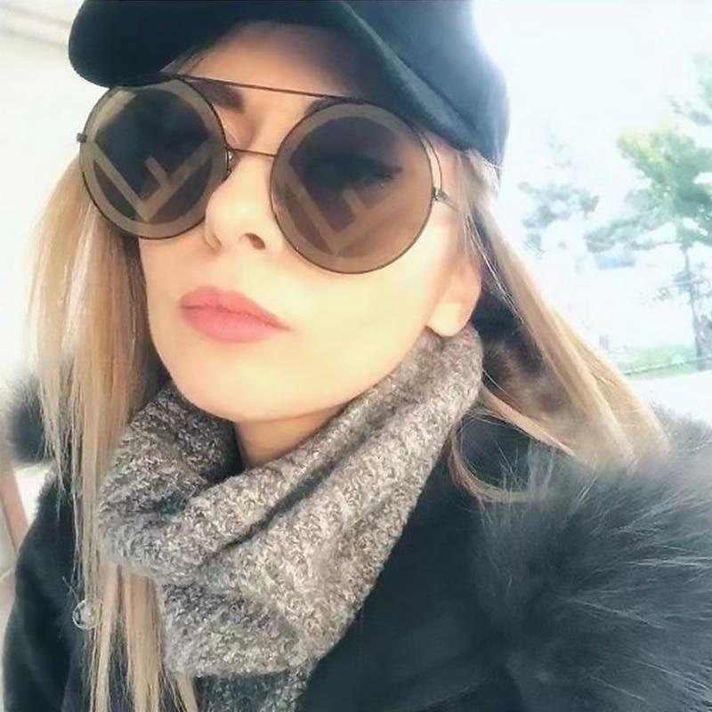eoome Fashion designer sunglasses wome оправа для очков бренд Sun Glass Oversize Round Shape High Qaulity Hot Selling With Case|Women's Sunglasses|Apparel Accessories - AliExpress