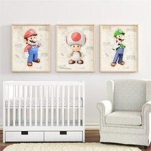Современное украшение для дома мультяшная Аниме игра Супер Марио