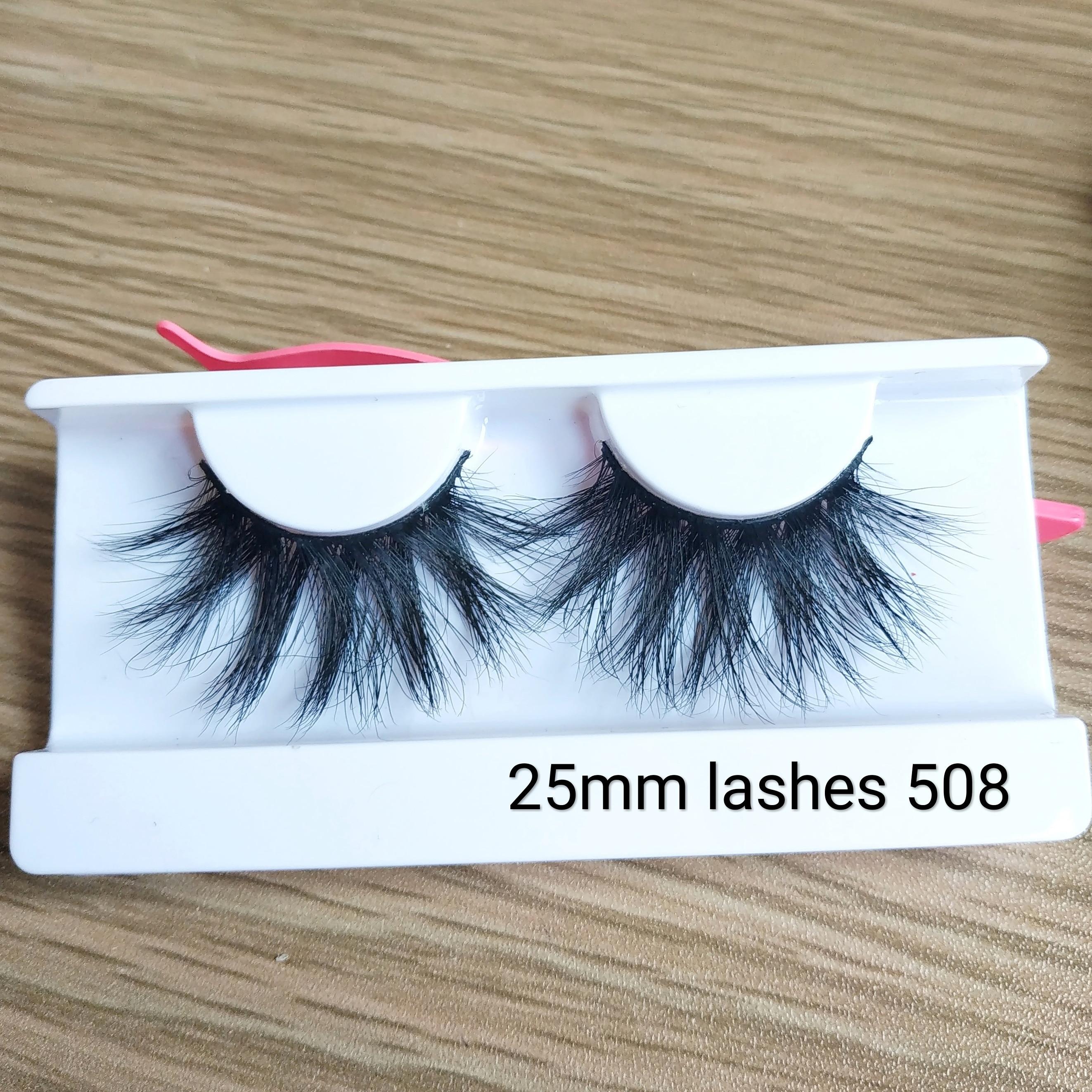 25mm Minklashes  False Eyelashes Fake Lashes Long 5D Mink Cruelty Free Eyelash Handmade Reusable Extension Mink Beauty Makeup