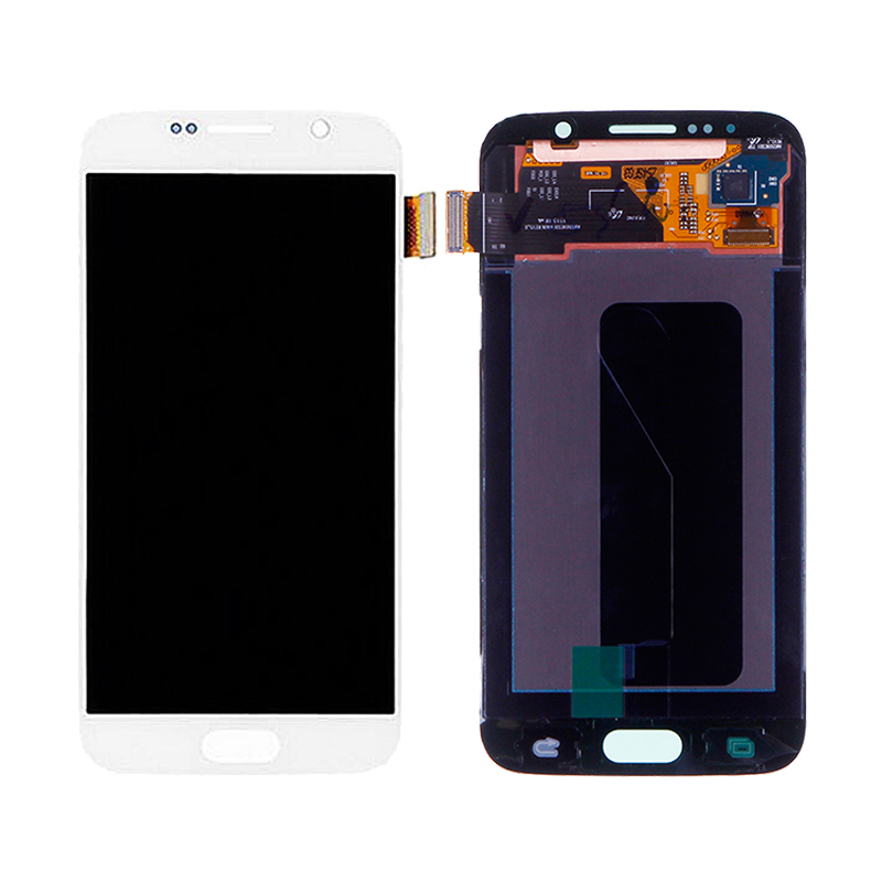 For <font><b>SAMSUNG</b></font> <font><b>GALAXY</b></font> <font><b>S6</b></font> G920 SM-G920F G920F G920FD LCD Display Screen Digitizer Touch Panel <font><b>Glass</b></font> Sensor Assembly <font><b>Replacement</b></font> Part image